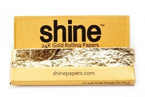 shine 24k gold unique rolling papers