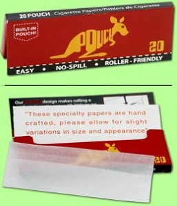 uniqure rolling papers with pouch
