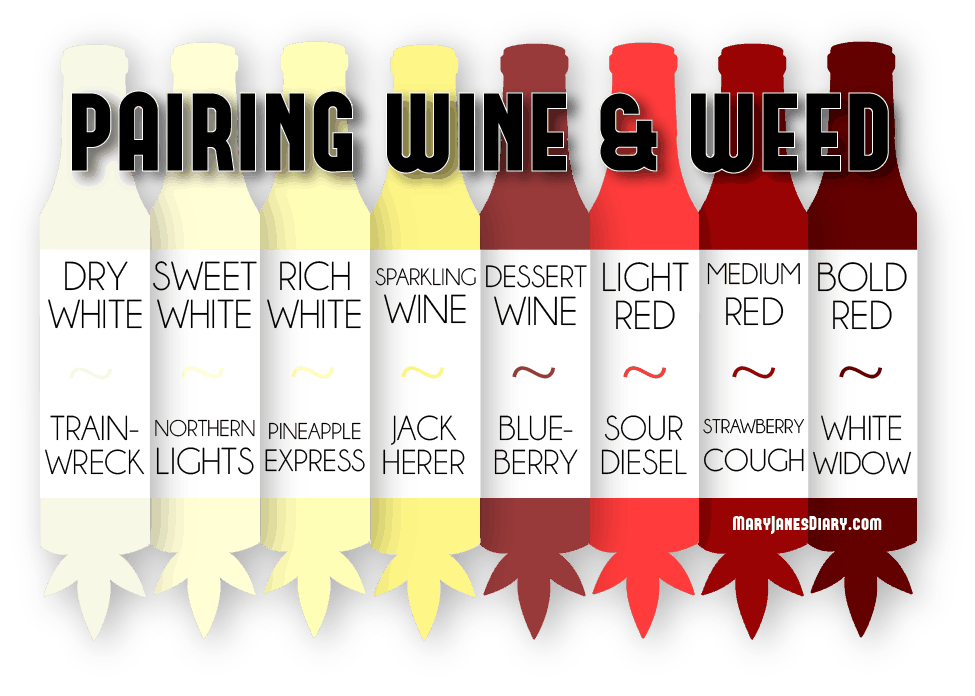 Pairing Wine with Weed Strains – Infographic