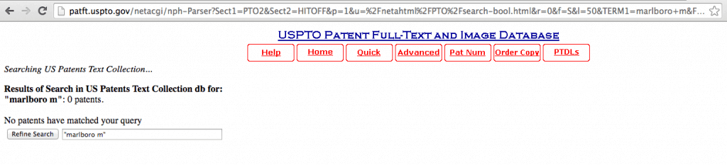 marlboro m patent
