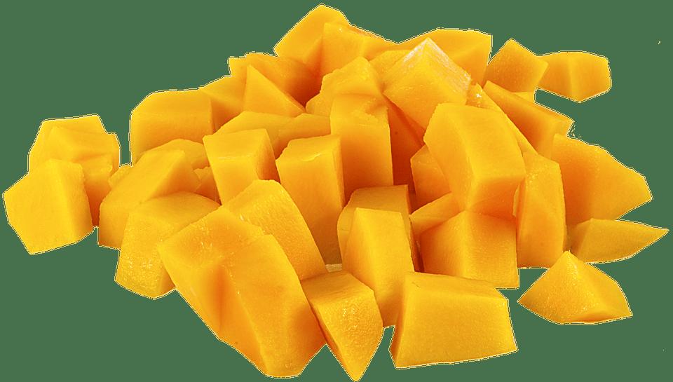 sliced mango before smoking