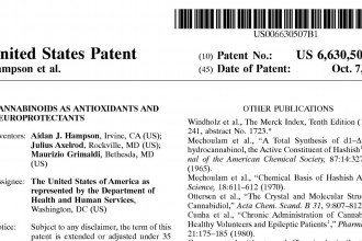 patent 6630507 US government weed patent