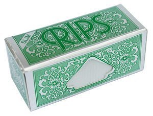 rips rolling papers on a roll