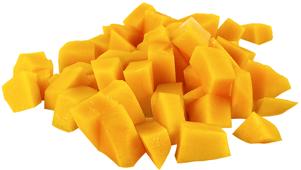 sliced mango before smoking